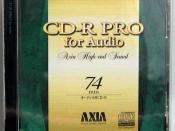 English: AXIA(Fujifilm) CD-R 日本語: AXIAの音楽用CD-R