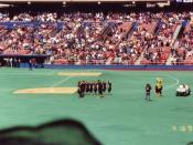 HIGH SCHOOL YEARS: The Nightingales perform the national anthem before a Pirates game