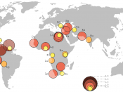 Dharavi compared to other large slums in the world. Map according to Mike Davis.