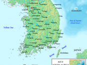 A map of South Korea, made by the uploader. The map is based on maps from www.demis.nl/wms/mapclip.htm.