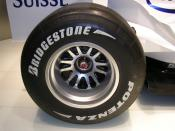 BMW Sauber F1.06 rear wheel with Bridgestone tyre. BMW Welt, Munich, 2008.