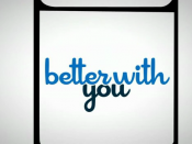 English: logo do seriado better with you.