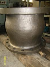Flanged nozzle inconel check valve or axial check valve