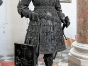 English: Bronze statue of Godfrey of Bouillon in the Hofkirche of Innsbruck. Deutsch: Bronzefigur von Gottfried von Bouillon in der Innsbrucker Hofkirche.