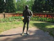 English: A statue of Thomas Jefferson at the College of William & Mary in Williamsburg, Virginia, USA.