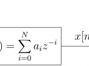 English: Diagram of a finite impulse response Wiener filter for discrete series. See the relevant section in the linked article for details