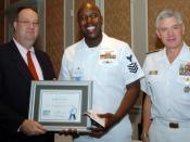 US Navy 051014-N-6639M-001 Aviation Ordnanceman 1st Class Carlos Young, assigned to the nuclear powered aircraft carrier USS Enterprise (CVN 68), is named the 2005 Samuel T. Northern Military Citizen of the Year