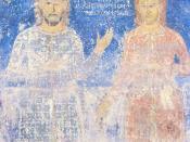 English: Serbian nobles Musići, second half of XIV century, monastery Nova Pavlica, Serbia
