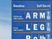 English: Gas Prices Poster