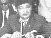 Suharto attends 1970 meeting of the Non-Aligned Movement in Lusaka.