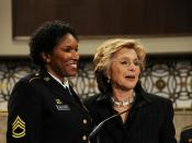 Senate honors women in the military