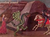 Paolo Uccello's depiction of Saint George and the dragon, c. 1470, a classic image of a damsel in distress.