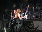 English: Dave Murray and Janick Gers of Iron Maiden Polski: Dave Murray (z lewej) i Janick Gers z grupy Iron Maiden