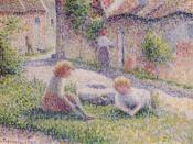 Camille Pissarro, Children on a Farm, 1887