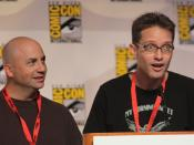 Mike Barker and Matt Weitzman at the 2009 Comic Con in San Diego.