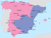 English: Map showing Spain in October 1937: Area under Nationalist control Area under Republican control