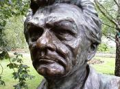English: Bust of the twenty-third Prime Minister of Australia en:Bob Hawke by political cartoonist, caricaturist and sculptor en:Peter Nicholson located in the en:Prime Minister's Avenue in the Ballarat Botanical Gardens. Photo taken by WikiTownsvillian