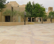 English: Qatar University's College of Education - Men's side entrance