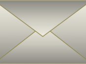 A drawing of an envelope
