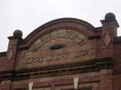 West Bromwich Spring Company Limited, George Street, West Bromwich - sign West Bromwich Spring Co~y Lt~d