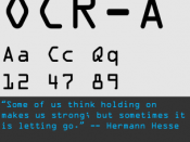 OCR-A was a font developed to be easily recognized by early Optical Character Recognition programs, as well as humans.