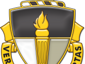 English: Distinctive Unit Insignia for the U.S. Army John F. Kennedy Special Warfare Center and School at Fort Bragg, N.C.