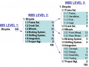 The WBS Construction Technique employing the 100% Rule during WBS construction.
