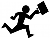 English: An artist's depiction of the rat race in reference to the work and life balance. See http://en.wikipedia.org/wiki/Rat_race Made with following images: http://www.openclipart.org/detail/75385 http://www.openclipart.org/detail/74137