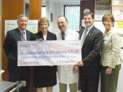 Original caption: As a strong supporter of National Institutes of Health (NIH) research, Congressman Gerlach was very pleased to recently present the Lankenau Institute for Medical Research with a grant they were awarded for cutting-edge research to cure