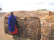 English: Maasai shelter, Ngorongoro Conservation Area, Tanzania