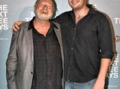 English: Jack Thompson with his son at the premiere of The Next Three Days in January 2011.