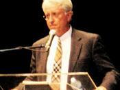 Jack Thompson (attorney) speaking at a debate at California University of Pennsylvania