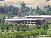 English: Chevron Corporation headquarters in San Ramon, California. This view shows just one of a huge, sprawling complex.