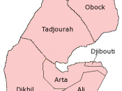 English: Map of the Regions of Djibouti; created with the GIMP. Made by User:Acntx.
