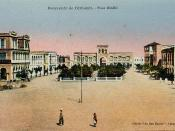 English: Place Menelik, Djibouti, c1905. Photograph of an original postcard published c1905 by