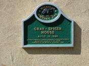 Gray - Spicer House - plaque, Farmington Hills, Mi.
