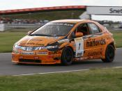 Matt Neal driving a Honda at the Snetterton round of the 2007 BTCC season.
