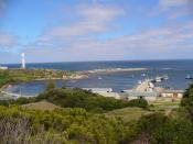 English: Currie, Tasmania harbour on King Island in Tasmania, Australia. Photo taken by Karl Barnfather 04/Feb/07
