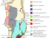 English: Map of surface geology of King Island, Tasmania