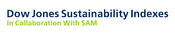 English: This is the logo of Dow Jones Sustainability Indexes that is provided online on multiple sites and the author was given the right by the company to use it on Wikipedia.