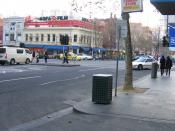 Corner of Russell Street and Lonsdale Street in Melbourne, Australia.