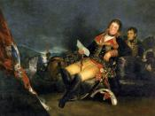 Goya's Manuel Godoy, Duke of Alcudia, Prince of the Peace, 1801. Godoy was Prime Minister of Spain during the 1808 Napoleonic invasion of Spain.