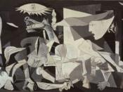 Pablo Picasso, 1937, Guernica, protest against Fascism