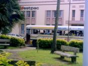 English: Westpac bank in Fijian capital, Suva.