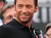 Hugh Jackman at the X-Men Origins: Wolverine premiere in Tempe, Arizona.