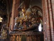 Deutsch: St.Georg und der Drache (Entwurf Bernt Notke) in Stockholm (Storkyrkan)