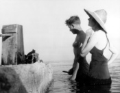 English: Robert W. Hines and Rachel Carson on the Atlantic coast