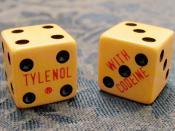 vintage doctor's swag -  craps dice advertise tylenol with codeine