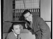 [Portrait of Ahmet M. Ertegun and Nesuhi Ertegun, Turkish Embassy(?), Washington, D.C., 194-] (LOC)
