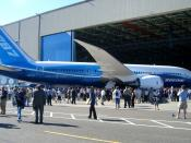 English: Boeing 787 Dreamliner at roll-out ceremony